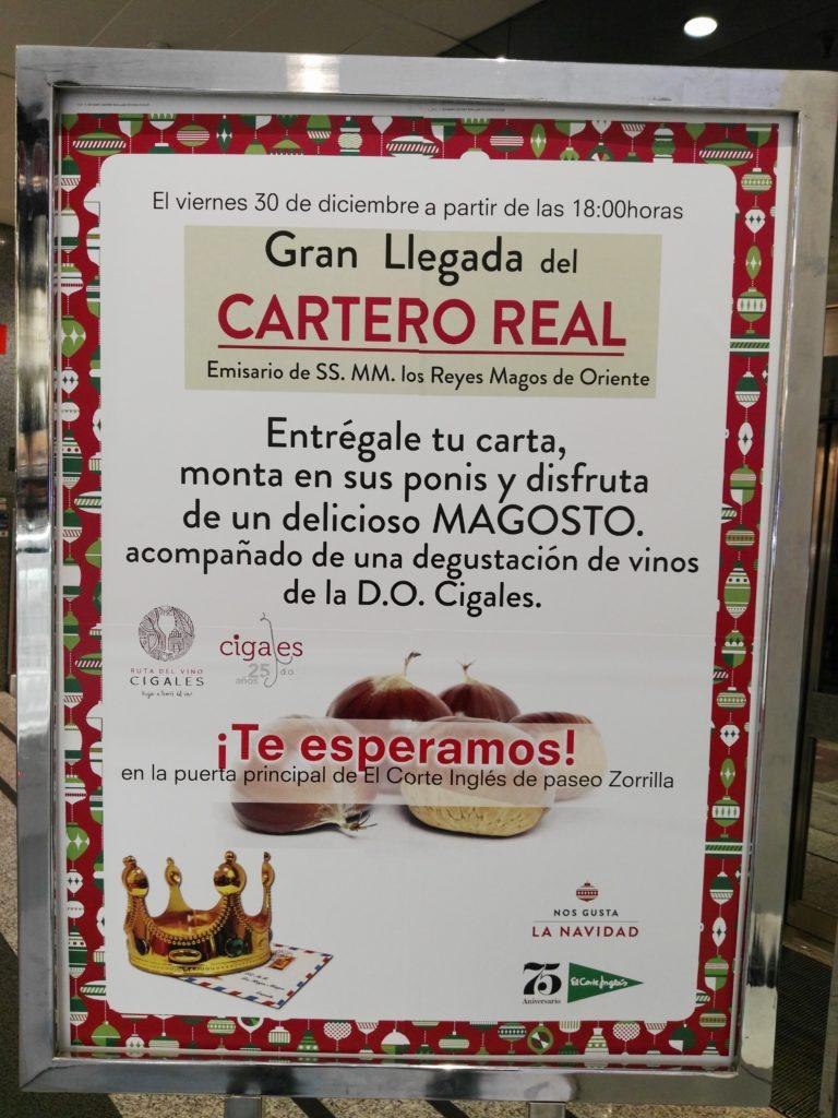 Cartel Magosto con la Ruta del Vino